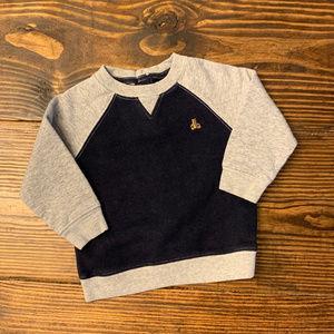 Baby Gap Raglan Sweatshirt in Navy and Gray